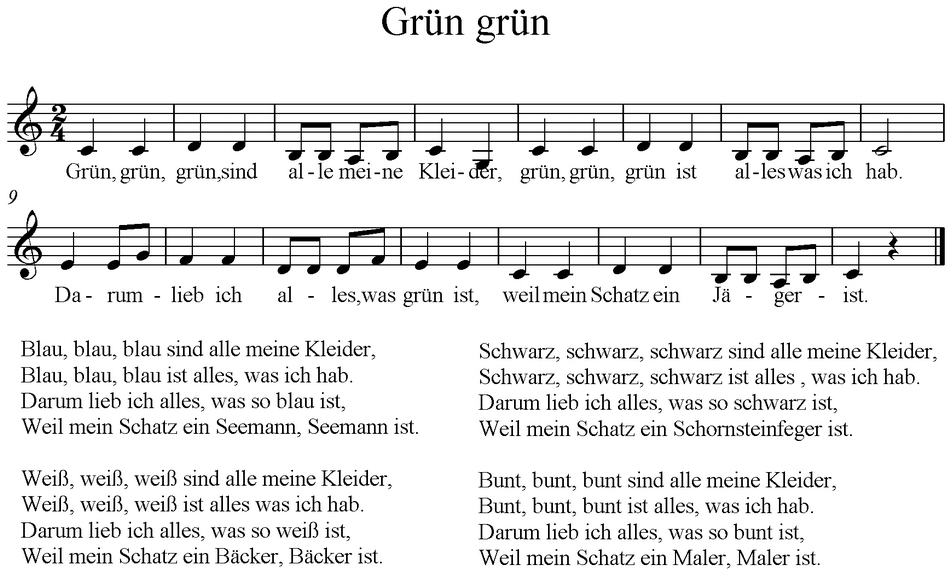 Grun grun grun sind text