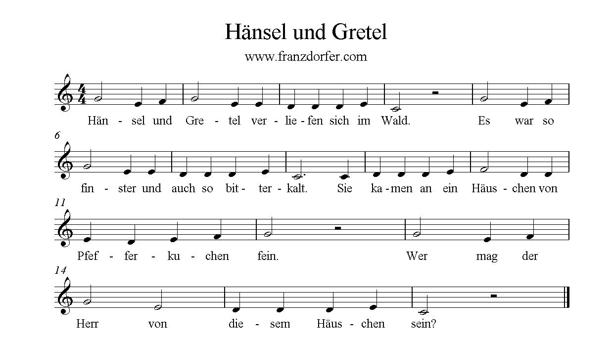 Text Lied Hänsel Und Gretel