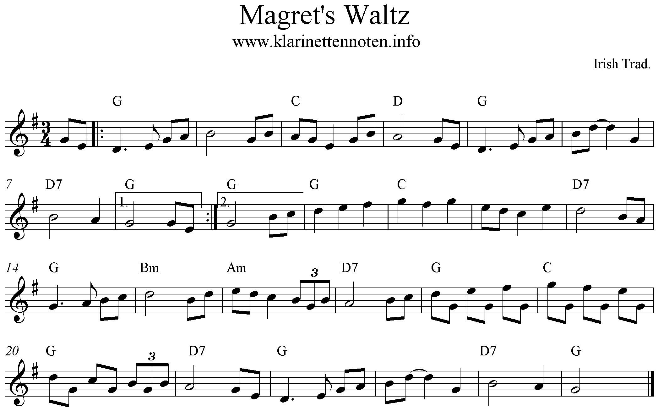 Magret's Waltz, G-Major