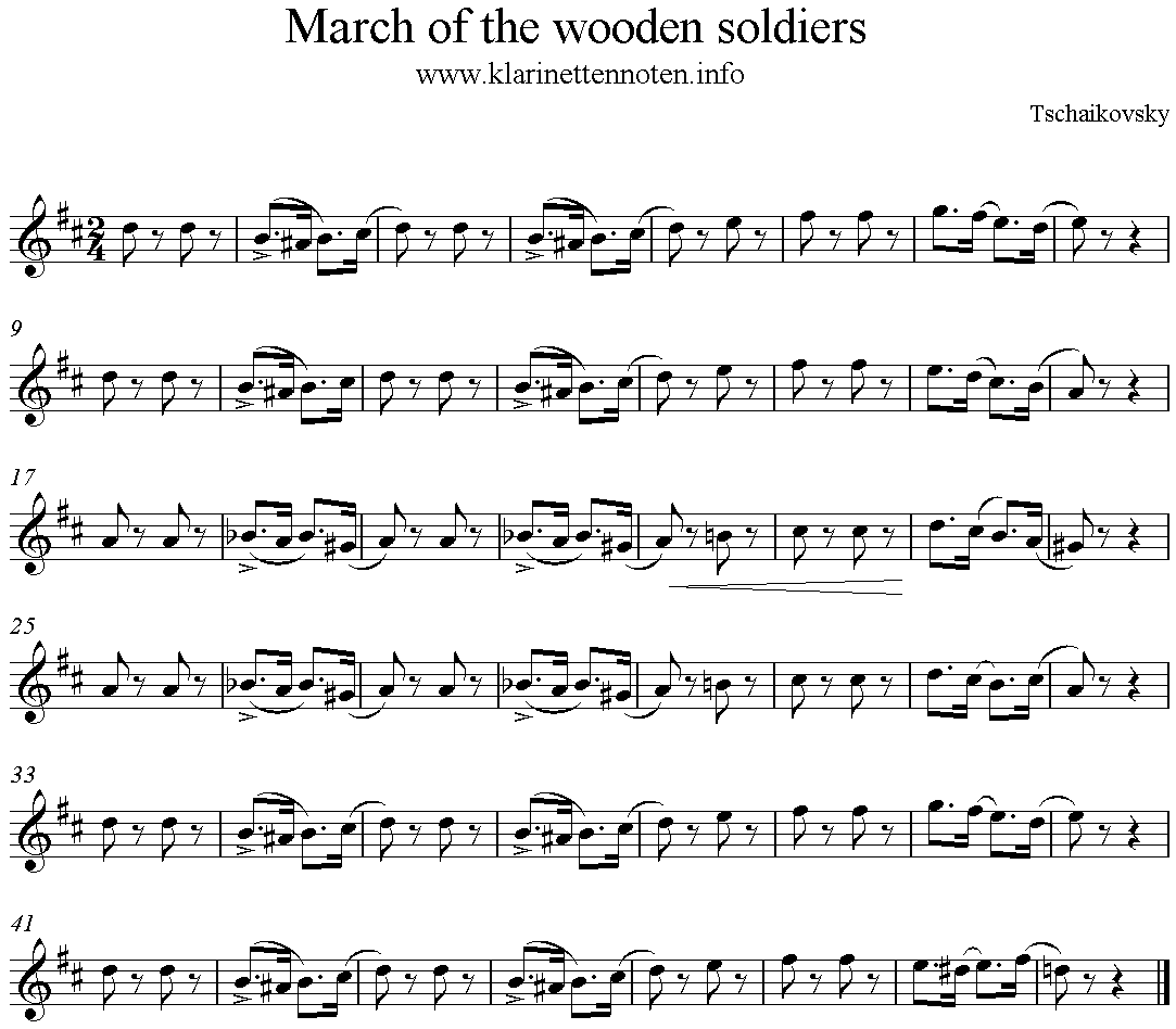Album for the Young, March of the wooden Soldiers