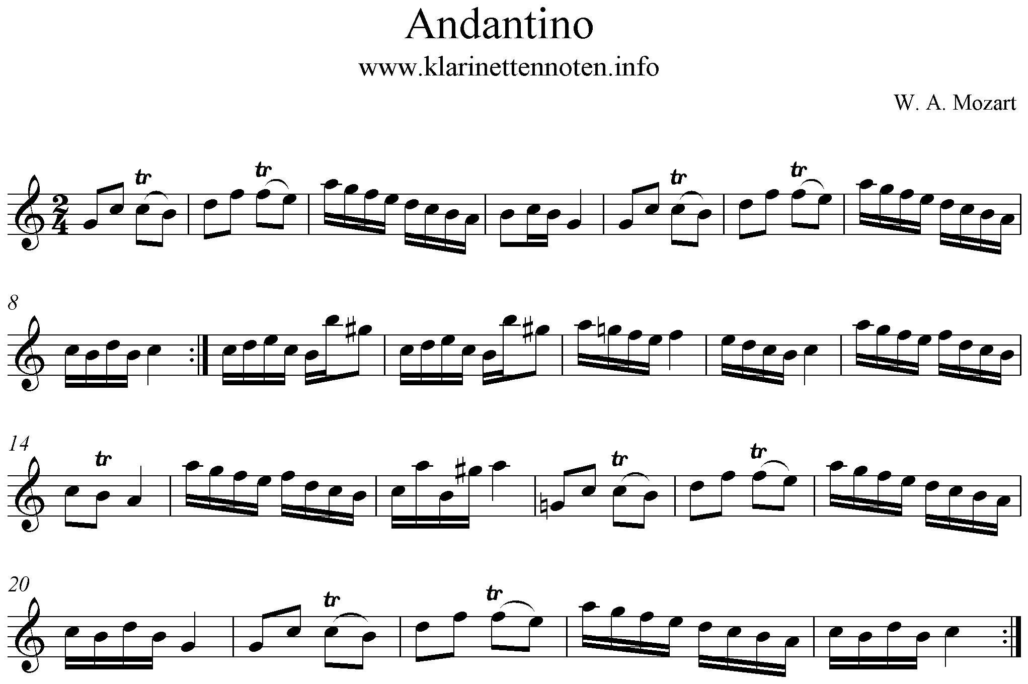 Andante Mozart