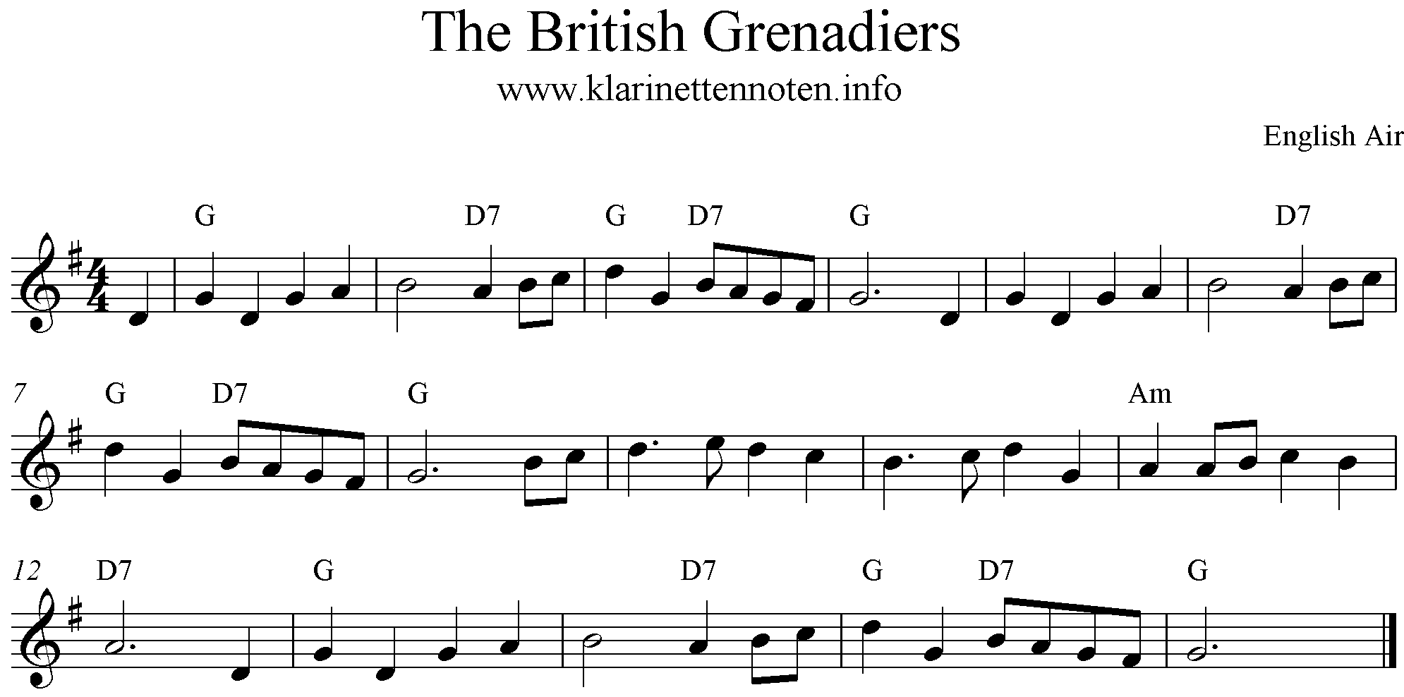 The British Grenasdier, G-Major