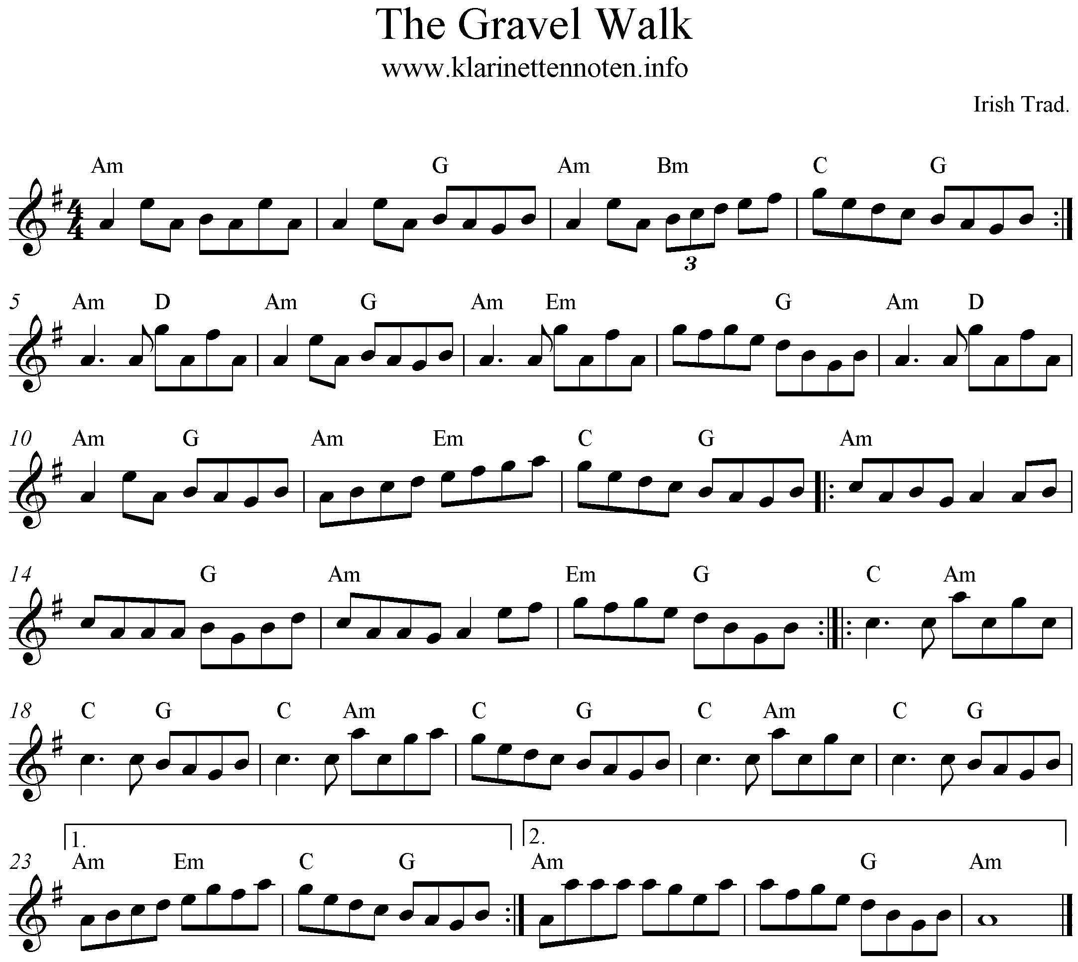 The Gravel Walk , a-minor