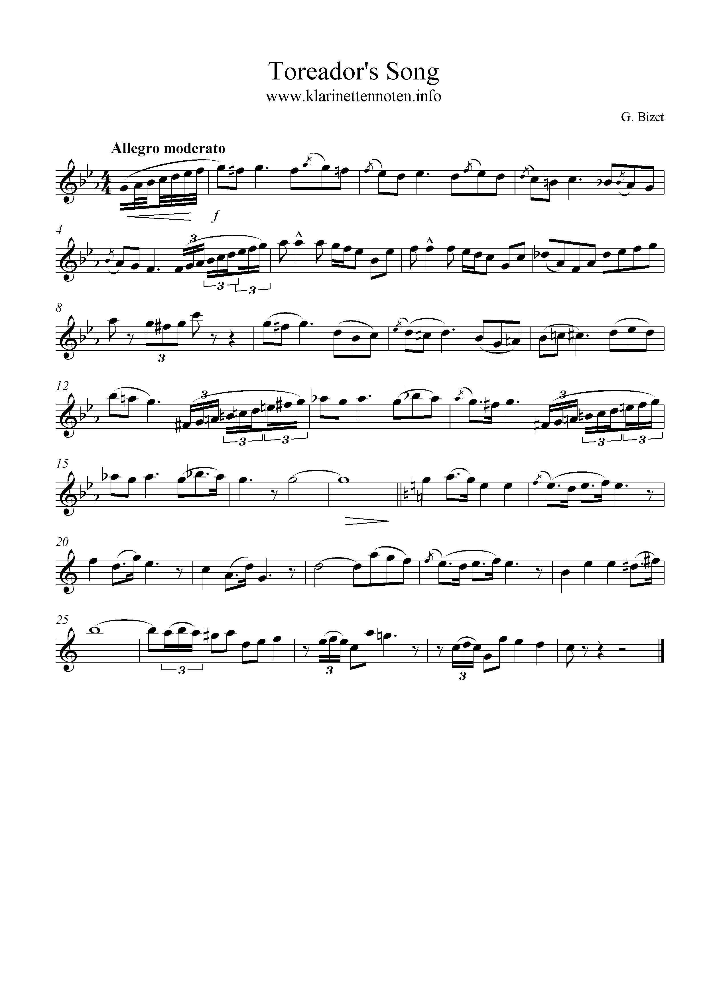 Toreadors Song, am, C-dur