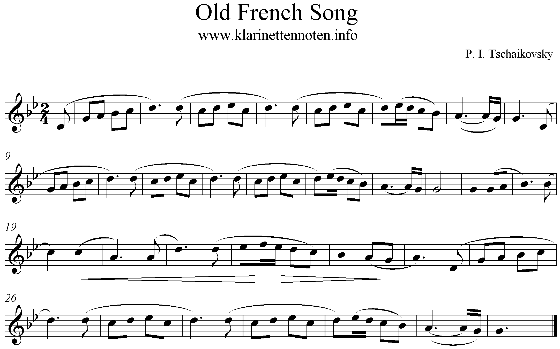 Old french Song, Albim for the Youth