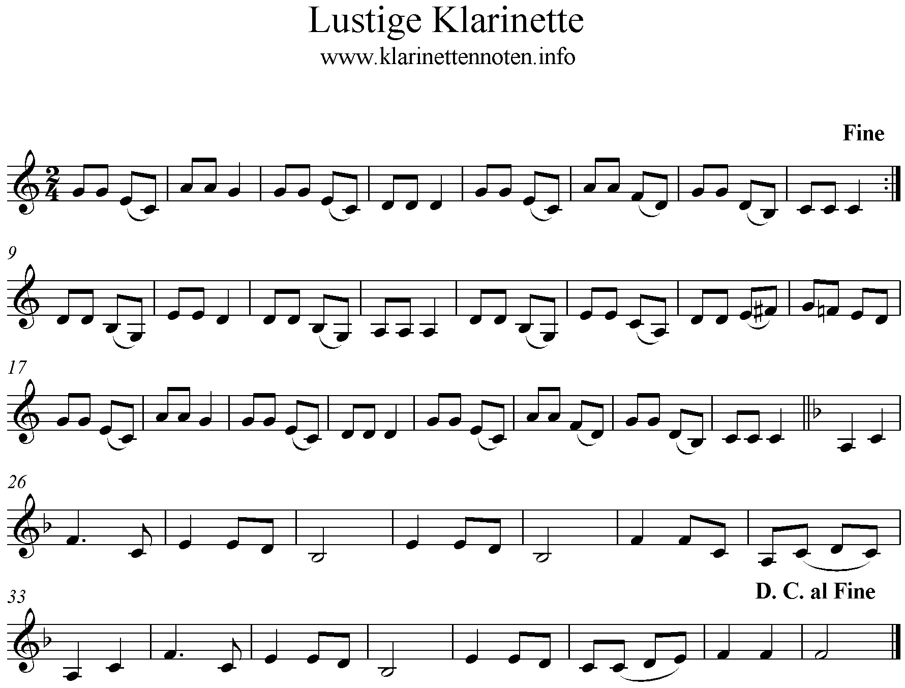 Lustige Klarinette