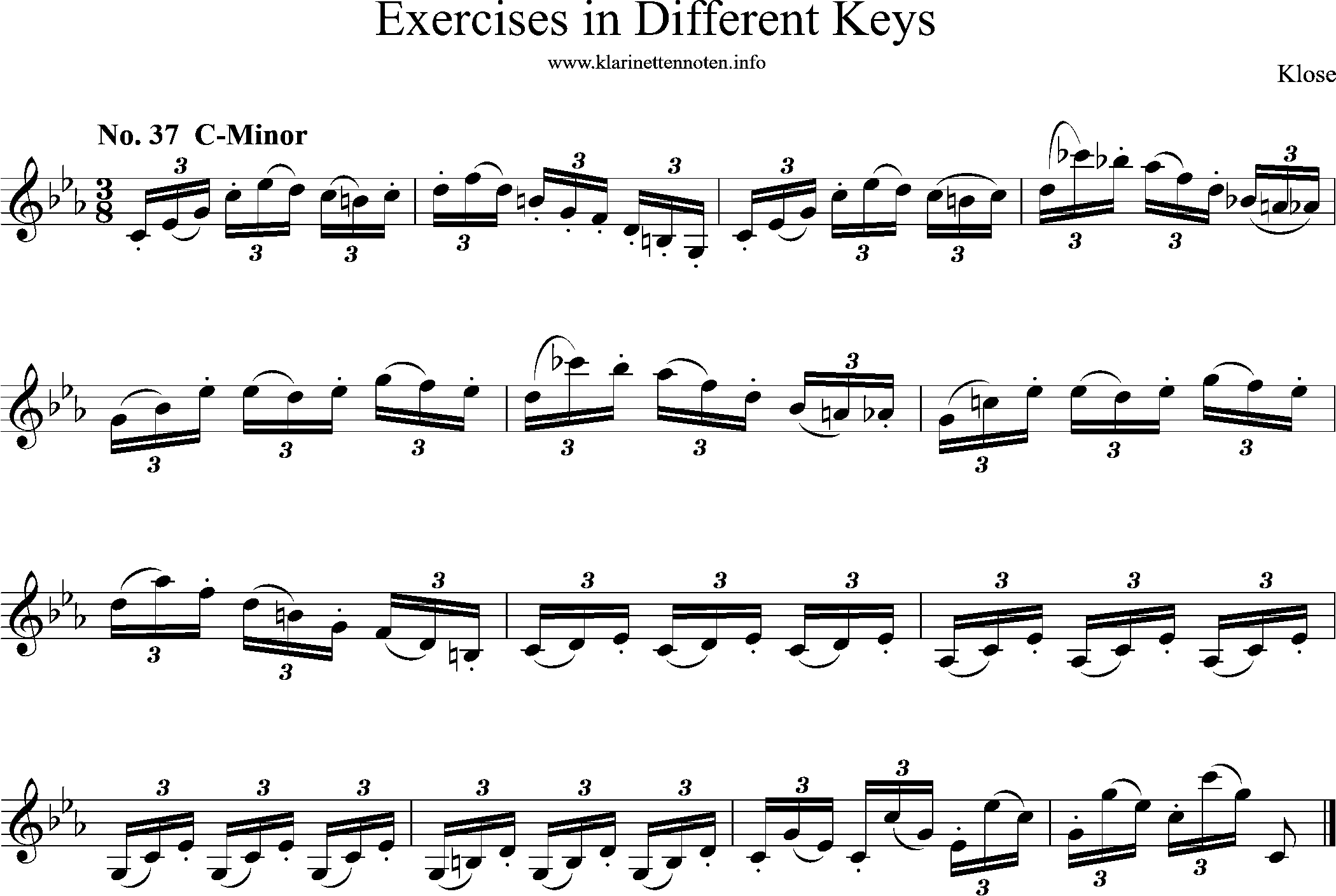 Exercises in Differewnt Keys, klose, No-37, C-Minor